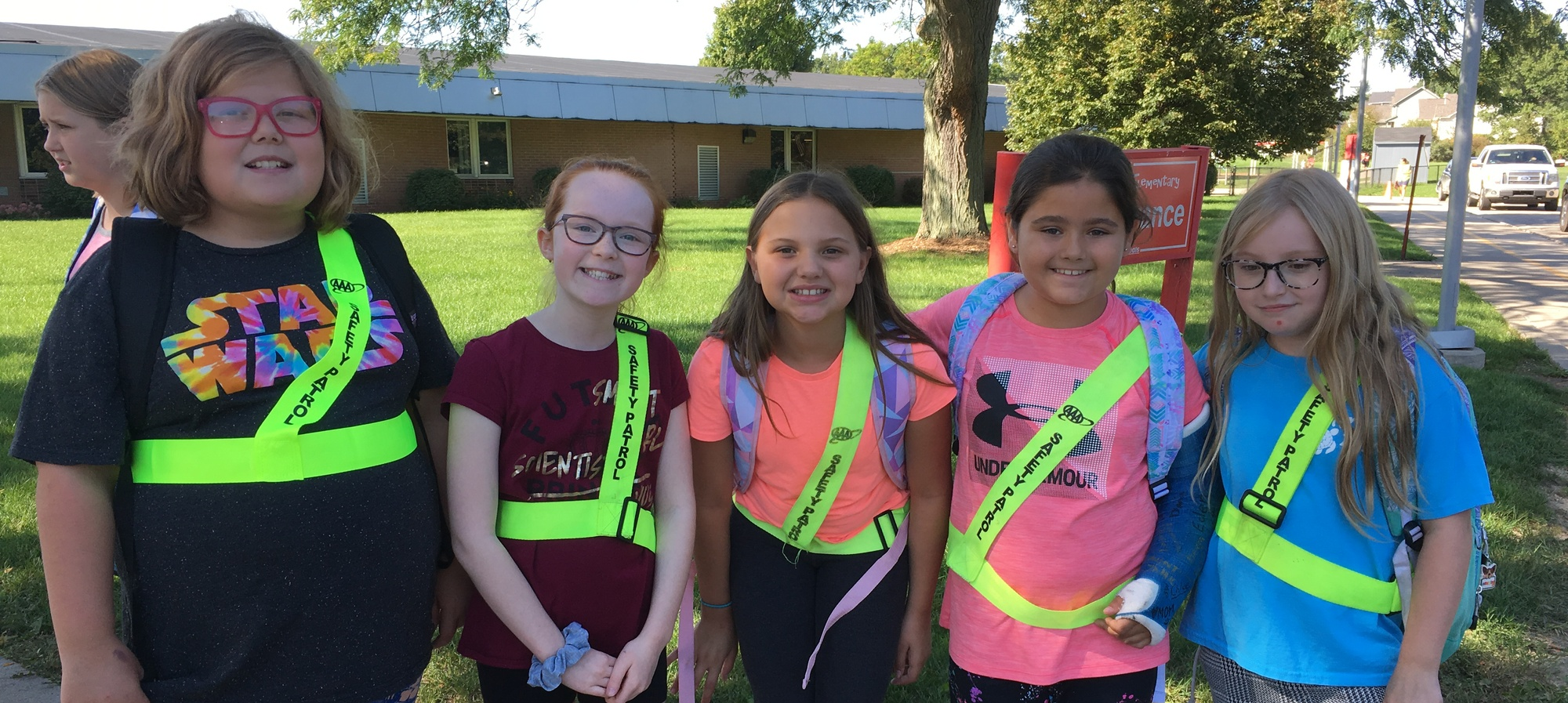 Safety Patrol students