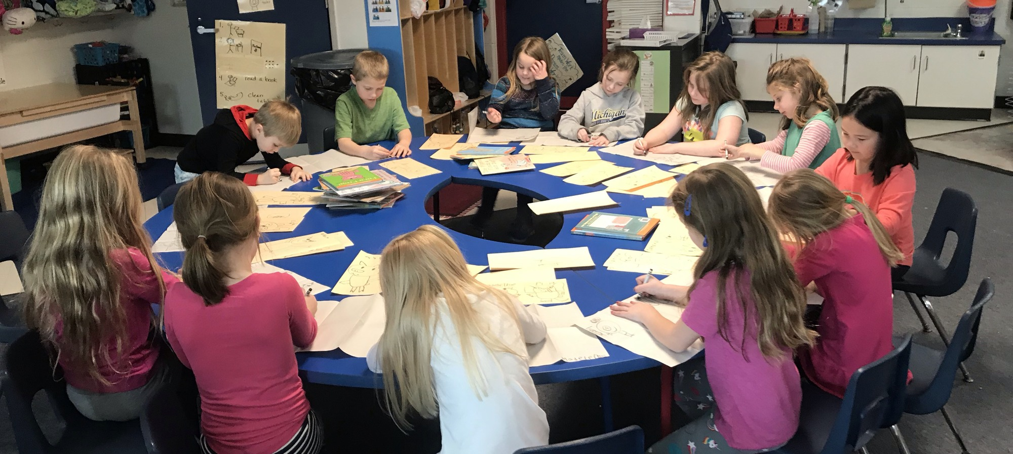 Students in after school enrichment class