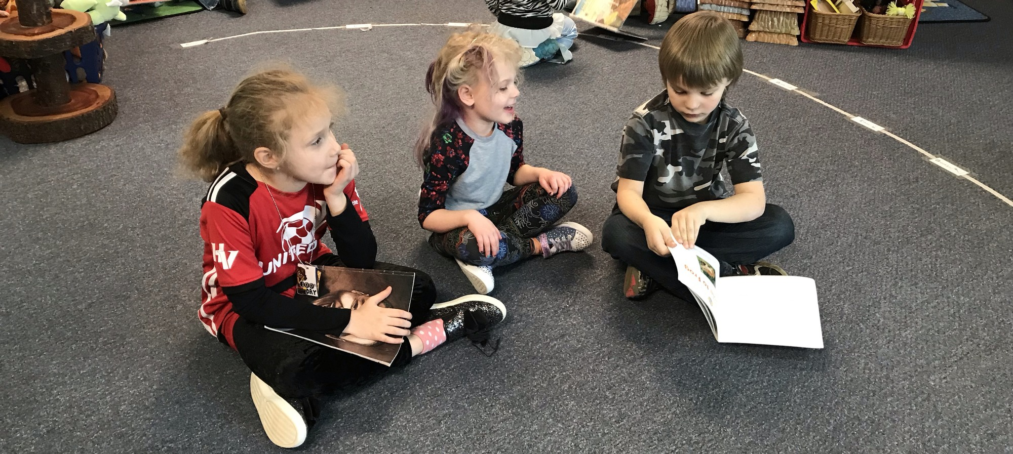 GSRP students reading with 1st grade book buddies