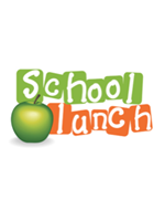 School lunch logo with green apple