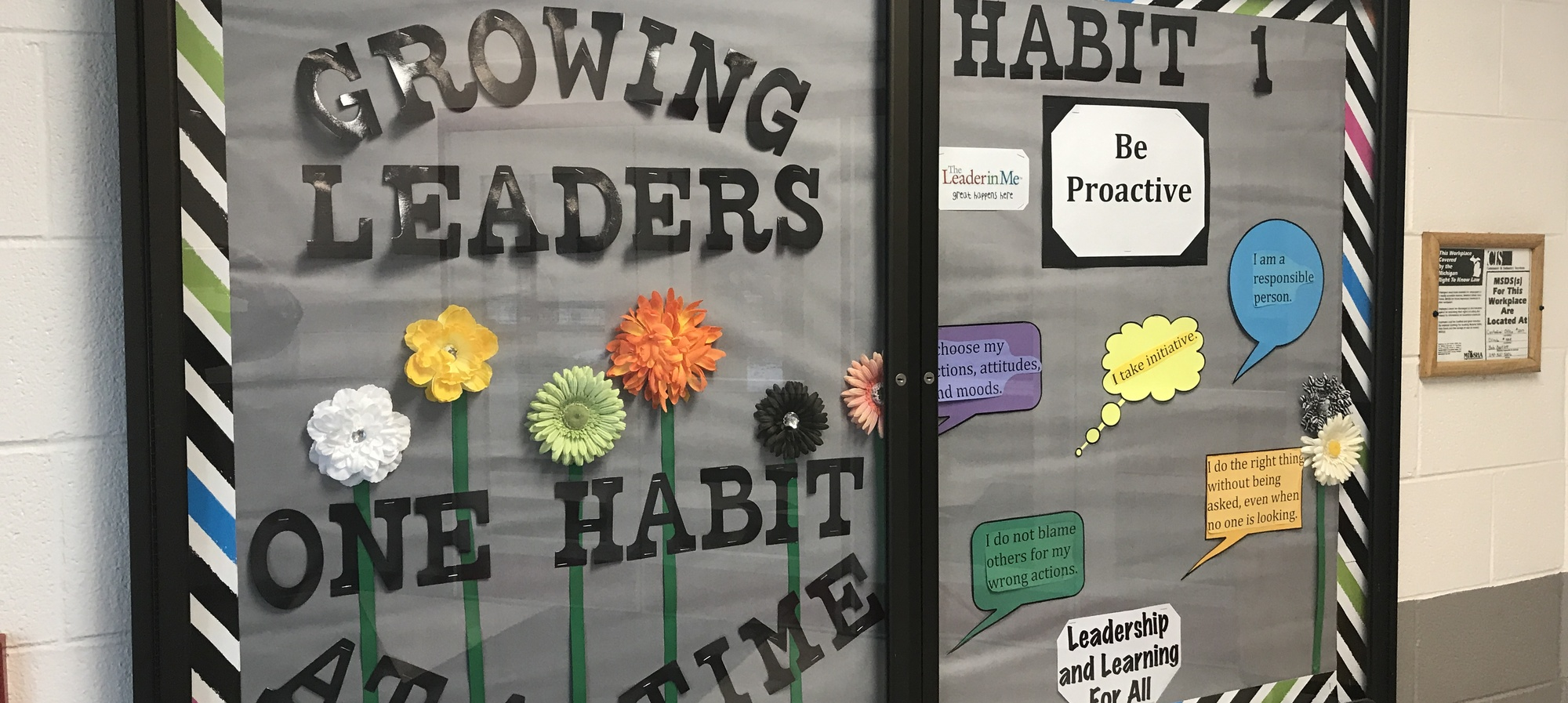 Habit 1 bulletin board
