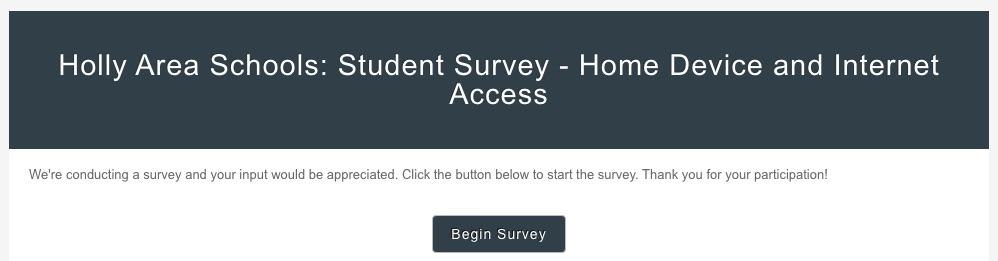 Student Survey - Student Survey - Home Device and Internet Access