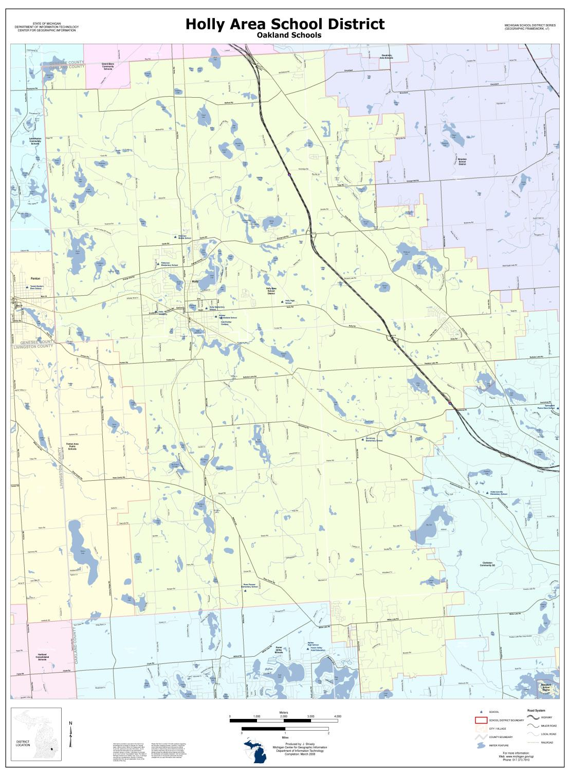 Holly Area District Boundary Map