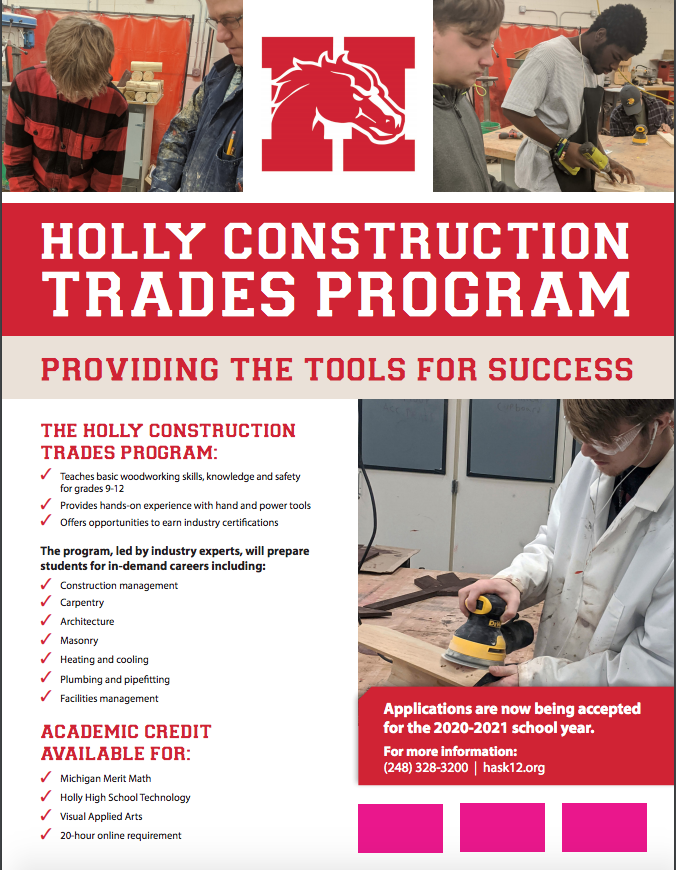 Construction Trades Program Flyer