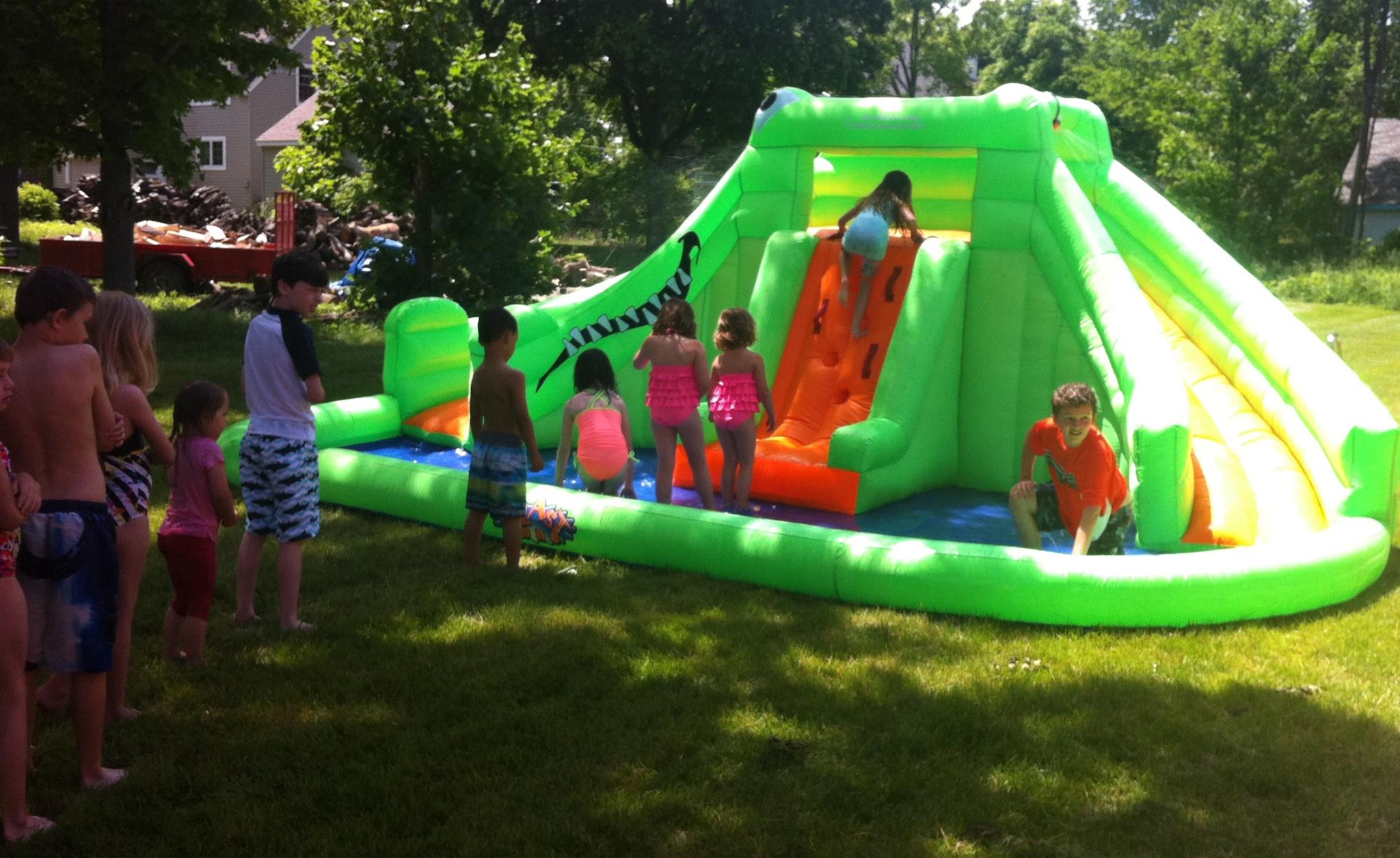 Holly Summer KIDS on a waterslide